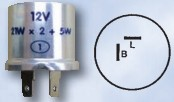 Flasher Unit (12v) - 2 Pin Thermal
