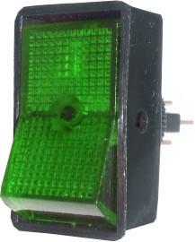 Rocker Switch 16A - Green